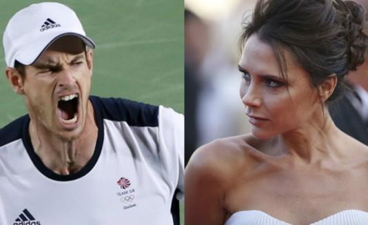 Andy Murray y Victoria Beckham