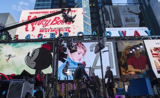 Preparación para Año Nuevo en Times Square