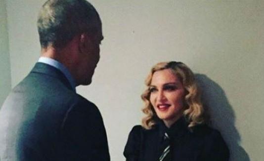 Barack Obama y Madonna