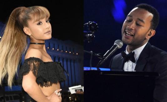 Montage Ariana Grande y John Legend