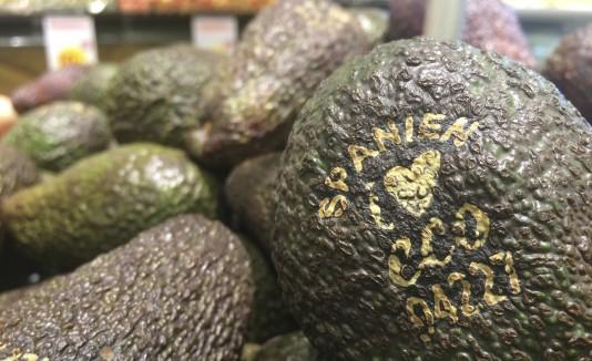 Verduras marcadas con láser