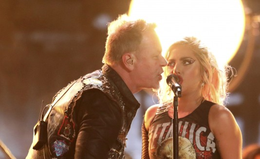 James Hetfield, de Metallica, y Lady Gaga