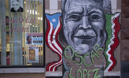 Mural de Oscar López Rivera en Chicago
