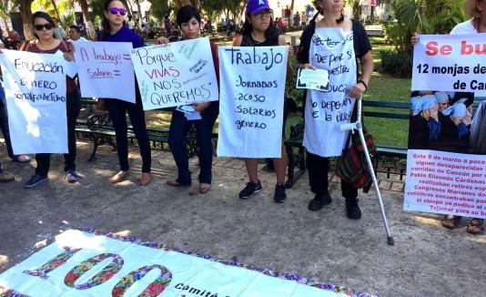 Mexicanas se manifiestan en el Día Internacional de la Mujer