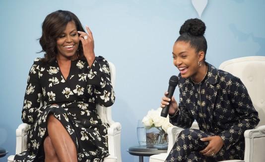 Michelle Obama y Yara Shahidi