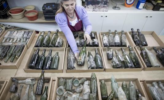 Botellas de alcohol de la Primera Guerra Mundial encontradas durante excavación en Israel