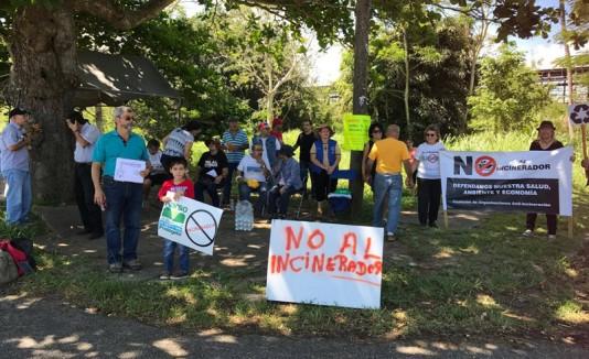 Protestas por el incinerador en Arecibo