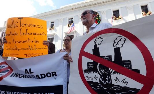 Protesta contra incineradora