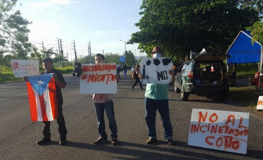 Protestan contra Energy Answers