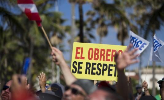 Manifestación de los obreros