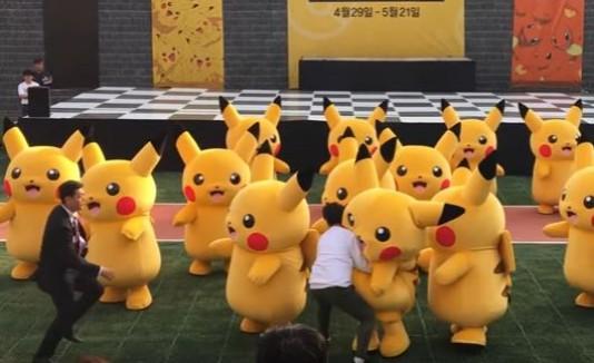 Cómico incidente con un Pikachu en Corea del Sur