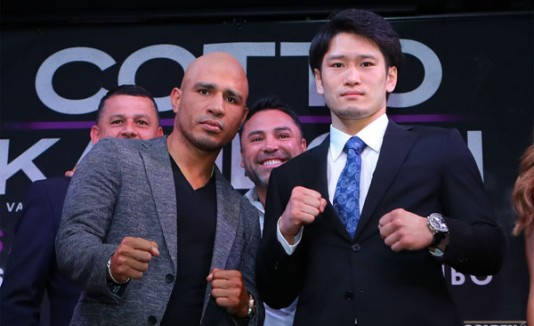 Miguel Cotto y Yoshihiro Kamegai