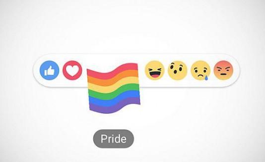 Reacción de orgullo en Facebook