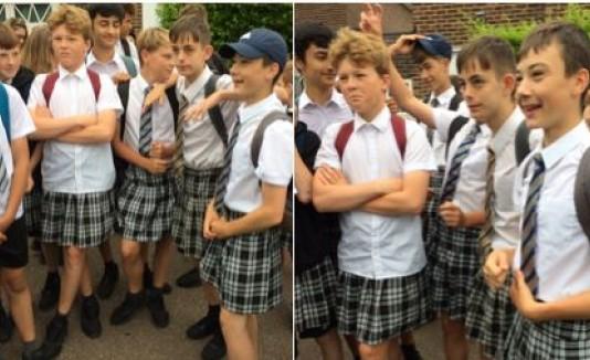 Varones en faldas