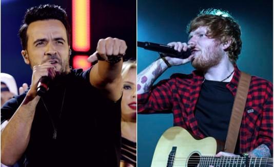 temas Luis Fonsi y Ed Sheeran