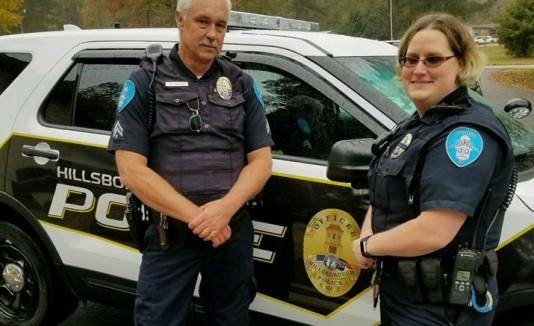 Policías en Carolina del Norte