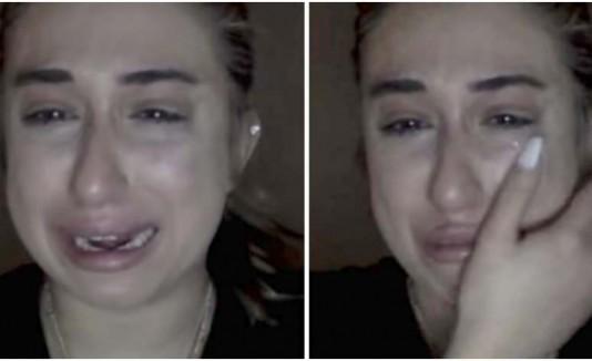 joven llorando