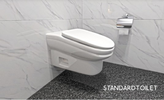 El StandardToilet tiene un truco destinado a aquellas personas que tardan mucho tiempo sentados en el baño