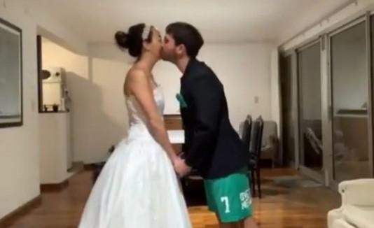 La pareja recién casada
