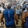 El Club  de Caminantes de Plaza tiene una rutina de ejercicios diaria  de 7:00 a.m. a 9:00 a.m.