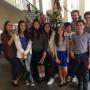 Estudiantes y maestros de la Episcopal Cathedral School  participaron de la parranda.