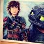 """Mandy Wang compartió el dibujo que hizo de la película """"How to Train Your Dragon"""" parte 2."""