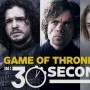 """Game of Thrones"" en 30 segundos."