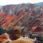 Están ubicadas en Zhangye Danxia, China.
