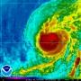 Imagen de satélite del huracán.