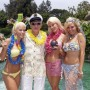 Kendra Wilkinson, Hugh Hefner, Holly Madison y Bridget Marquardt.