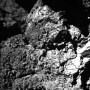 El lugar de aterrizaje Abydos el día después de que Philae descendió en el cometa 67P.