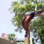 El parkour es una disciplina deportiva en la cual se realizan movimientos acrobáticos en superficies de mucha dificultad y al aire libre.