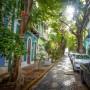 Una calle en el Viejo San Juan.