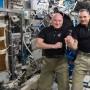 Scott Kelly y Mikhail Kornienko pasaron 340 días en el espacio, a bordo de la Estación Espacial Internacional