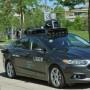 Uber utilizó autos híbrido Ford Fusion para las pruebas.