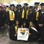 Estudiantes graduados de la Universidad del Turabo.