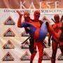 Spiderman y dos Deadpool se unieron en el escenario en la pasada edición del Kaisen Comic and Animé Festival.