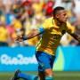 Neymar celebra el fugaz gol.
