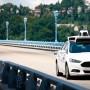 Empleados de Uber prueban el Ford Fusion híbrido.