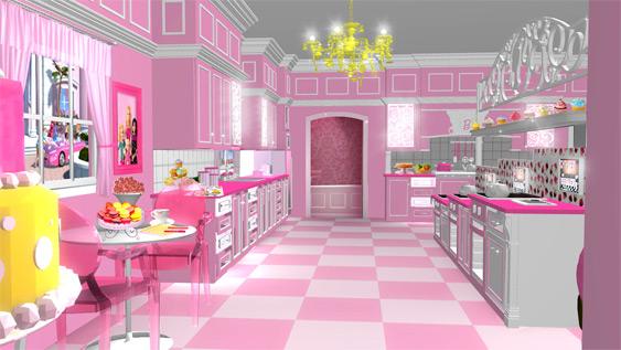 Una casa de barbie en tama o real - Camera da letto di barbie ...