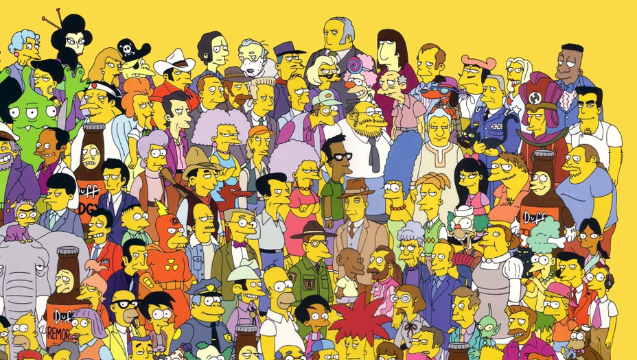 Group Of 6 Cartoon Characters : Fun facts sobre los simpsons