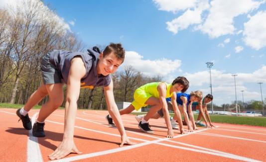 Niños atletas